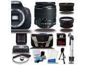 Canon Rebel T5i 700D Digital SLR Camera + 3 Lens Bundle Kit 18-55 IS + 32GB + Card Reader + Case New