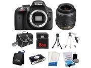Nikon D3300 DSLR Camera + 18-55mm VR + 8GB + Reader + Tripod + Case & More  New