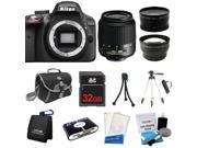 Nikon D3300 SLR Camera + 18-55mm VR + 3 Lens + 32GB + Case / Bag + Tripod - NEW