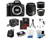 Nikon D5300 SLR Camera + 18-55mm VR + 3 Lens + 64GB + Case / Bag + Tripod - NEW
