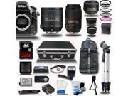 Nikon D810 SLR Camera + AF 24-85mm VR + 55-300 VR + 35mm - 5 Lens Bundle + 32GB