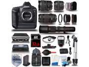 Canon EOS 1DX DSLR Camera + 28-135 + 70-300 + 85 1.8 + 500mm 6 Lens 32GB 22pc Premium Bundle Kit + Hard Case - New