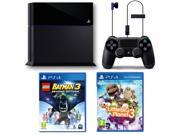 Sony Black PlayStation 4 Black Friday Kit Bundle Blu-ray Wireless controller Gaming Console With Lego Batman 3 and Little Big Planet 3 - New
