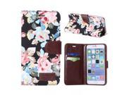 Luxury Floral pattern Case for Iphone 6 Plus PU leather Magnetic Stand Cover Case for Iphone 6 Plus 5.5 inch