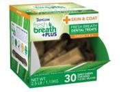 Fresh Breath Plus Treats Skin & Coat Cube,  Color: Green, Size: 2.5 pounds