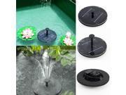1.4 W Floating Solar Fountain Pump for Birdbath Fountain Pool Garden led lamp