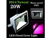 2014 Newest LED Flood Grow Light 20W/30W 1300-1400LM Water Proof IP65 most powerful led grow light