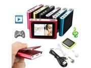 NEW 6th Gen 1.8in LCD Mp3 Mp4 FM Radio Games Movie Player For 2-16GB Micro SD/TF
