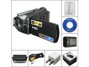 "2.7"" 270° Rotation LCD 1080P Digital Video Camcorder Full HD 16x Digital Zoom DV Camera 270° Rotation 120mm x 50mm x 55mm"
