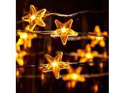 3M Copper Wire Battery Case Stars LED String Light Christmas Xmas New Years Day Wedding Home DIY Decorative Light String Waterproof
