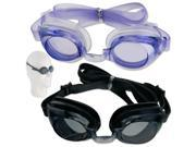 Anti-Fog Swim Swimming Goggles Soft Eye Glasses Cups Earplugs Earbud Assorted Mix-Color