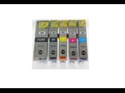 Canon PGI-220 Black & CLI-221 B/C/M/Y Color Ink Cartridges Combo 5 Pack