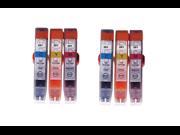 6PK COLOR CLI-251 Ink Cartridges Cyan/Yellow/Magenta for Canon Pixma MG6320 MG5420 MX922 iP7220 MX722 MG5422