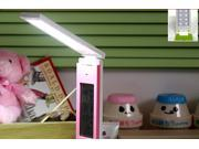 Rechargeable LED table lamp with alarm clock adjustable dormitory student desk lamp Protecting eye Light