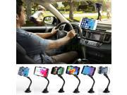 SQdeal® Universal Double Clip 360 Rotating Flexible Car Mount Bracket Cradle Holder Stand for Iphone 6/6 Plus/5s/5c/5/4s/4, Samsung Galaxy S5/s4/s3, Samsung Galaxy Note 4/3/2