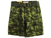 Carter's Little Boys' Camo Army Cargo Shorts with Belt, Green, Size 6