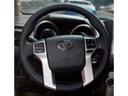 Steering Wheel Cover For Toyota Land Cruiser Prado 2010 2012 2014 Tundra Tacoma Car Special Hand-stitched Genuine Leather Covers