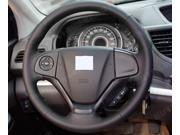 Steering Wheel Cover For Honda CRV 2012 2013 XuJi Car Special Hand-stitched Black Genuine Leather Covers