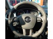 Volkswagen Touareg VW Touareg 2011 2012 2013 Xu Ji Car Special Hand-stitched High Quality Black Leather Steering Wheel Cover