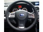 2013 2014 Subaru Forester Legacy Outback XV Steering Wheel Cover Car Special Hand-stitched Black Genuine Leather Wheels Covers