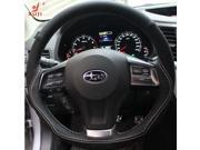 Subaru Forester Legacy Outback XV 2013 2014 Steering Wheel Cover Car Special Hand-stitched Genuine Leather Suede Wheels Covers