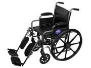 "K2 Basic Wheelchairs - WHEELCHAIR, VINYL, DLR, ELR, K2B, 16"" - Each 1"