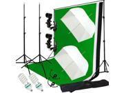 Lusana Studio Light Umbrella Video Photo Softbox Kit Backdrop Muslin Kit LNG2813