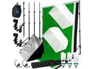 Lusana Studio 3 Umbrella Light Video Photo Softbox Kit Backdrop Muslin LNG2814