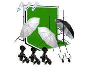 Studio Lighting Photography 3 Muslin Backdrop Light Stand Kit GLC002