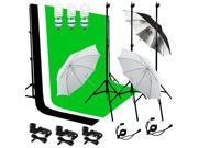 Lusana Studio Lighting Muslin Backdrop Stand Kit 3 Backdrop 3 Light LNG2901