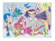 Fairies Dress-Up Peg Puzzle 9 pcs. - Wooden Puzzle by Melissa & Doug (9057)