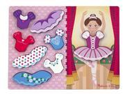 Ballerina Dress-Up Chunky Puzzle - Wooden Puzzle by Melissa & Doug (9022)