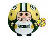 Green Bay Packers NFL Beanie Ballz Clip - Stuffed Animal by Ty (38379)