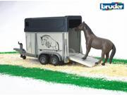 Horse Trailer with Horse - Vehicle Toy by Bruder Trucks (02028)