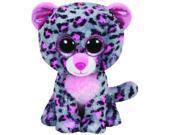 Tasha Pink & Grey Leopard Beanie Boo Medium - Stuffed Animal by Ty (37038)