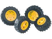 Twin Tires (Yellow Rims) for John Deere Tractor 7930 Vehicle Toy Bruder (03314)