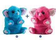 Blue & Pink Elephant Switch-A-Rooz - Stuffed Animal by Wild Republic (17719)