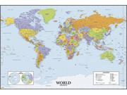 World Map Dry Erase Peel and Stick Giant Wall Decals