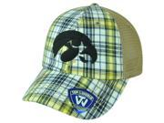 NCAA Iowa Hawkeyes Avery Two Tone Plaid Mesh Trucker Snapback Adjustable Hat Cap