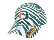 NCAA UM Miami Hurricanes Canes Top of the World Smash Zubaz Snapback Hat Cap