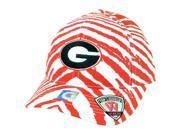NCAA Top of the World Georgia Bulldogs Women Zubaz Pattern Snapback Hat Cap