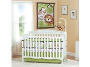 Summer Infant Jungle Buddies 4-Piece Crib Bedding Set