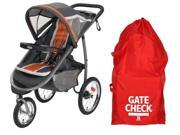 Graco FastAction Fold Jogger Click Connect Stroller with Airport Gate Check Bag, Tangerine