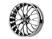 Lorenzo WL27 WL02722015220 22x10 5x115 +20mm Chrome w/Black Windows Wheel Rim