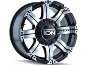 Ion 187 18x9 5x139.7/5x150 -12mm Black/Machined Wheel Rim
