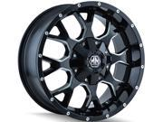 Mayhem 8015 Warrior 17x9 6x135/6x139.7 -12mm Black/Milled Wheel Rim