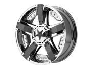 XD Series XD811 Rockstar 2 17x9 8x165.1 -12mm PVD Chrome Wheel Rim