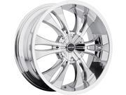 MKW M114 17x7.5 4x100/4x114.3 +40mm Chrome Wheel Rim