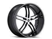 Status S816 Knight 5 20x10 5x114.3 +45mm Black/Machined Wheel Rim