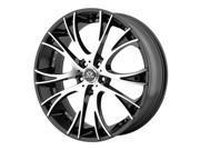 Lorenzo WL34 20x8.5 5x120 +15mm Black/Machined Wheel Rim